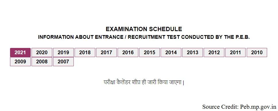 peb exam time table 2021